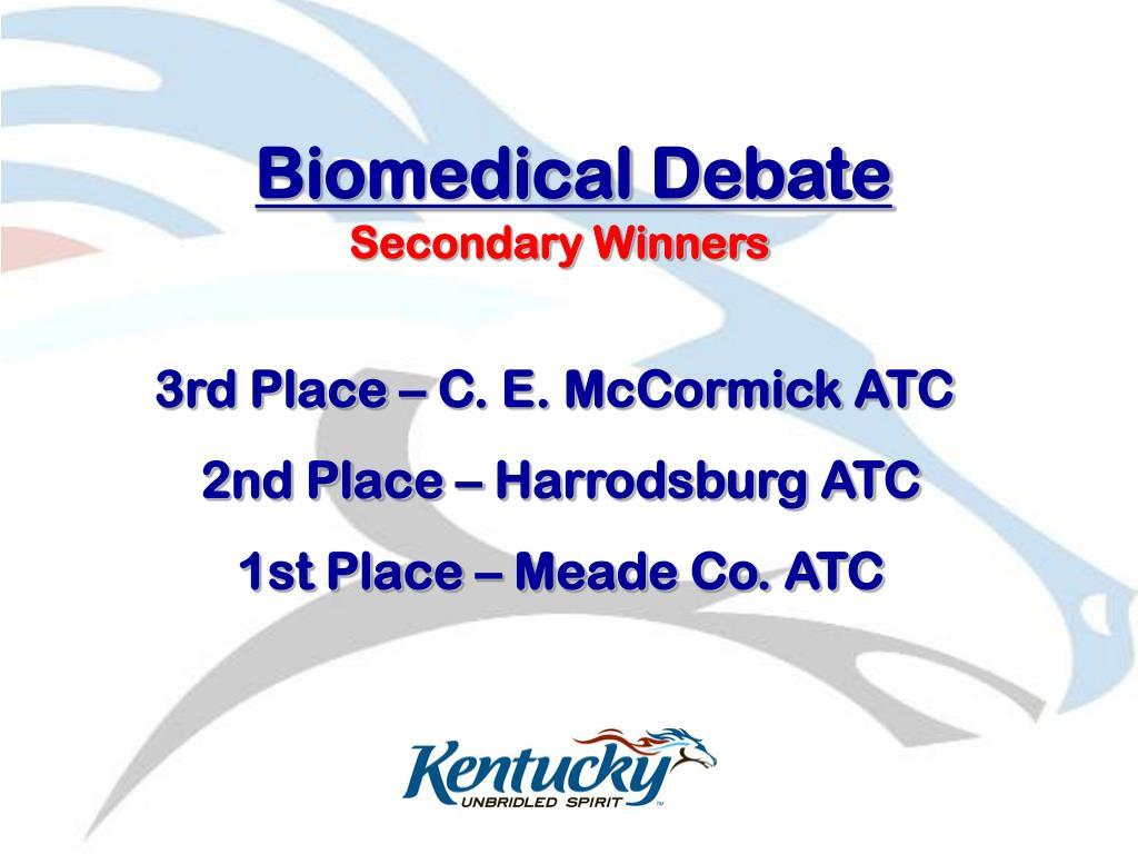 Biomedical Debate