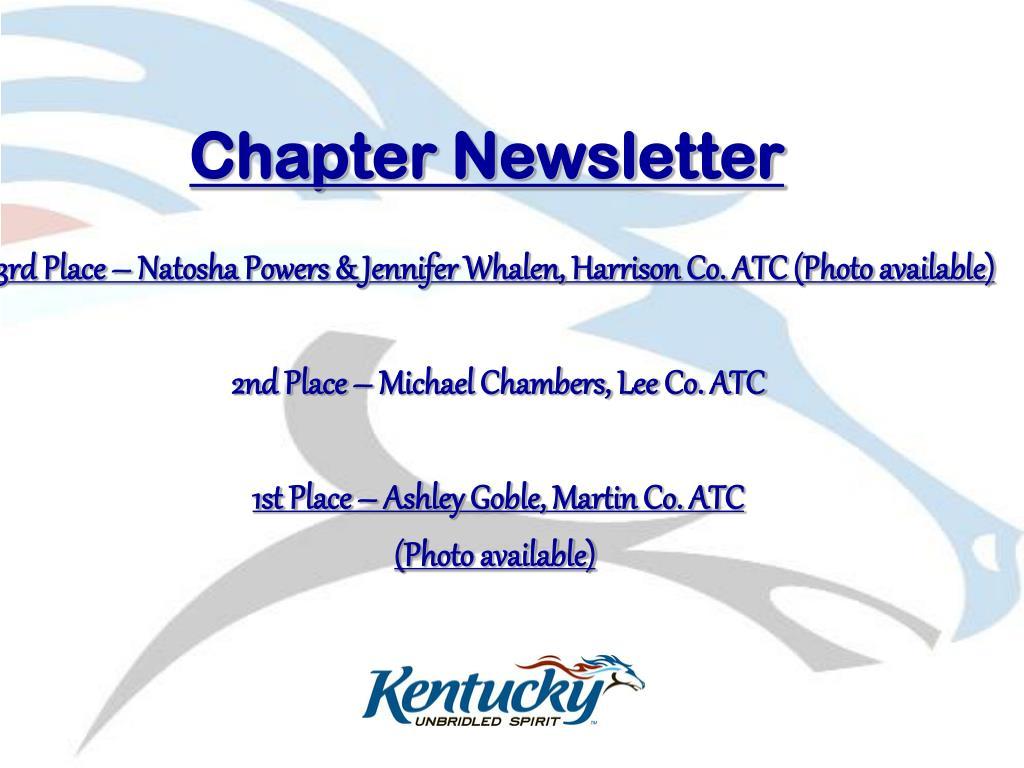Chapter Newsletter