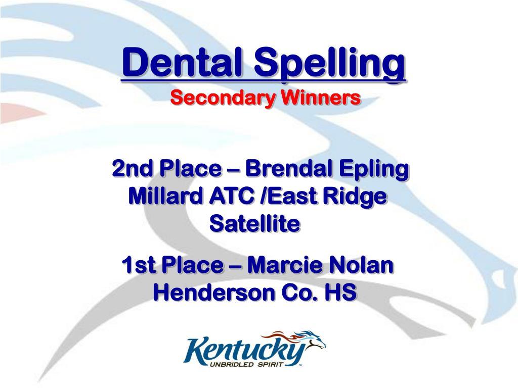 Dental Spelling