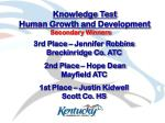 knowledge test human growth and development10