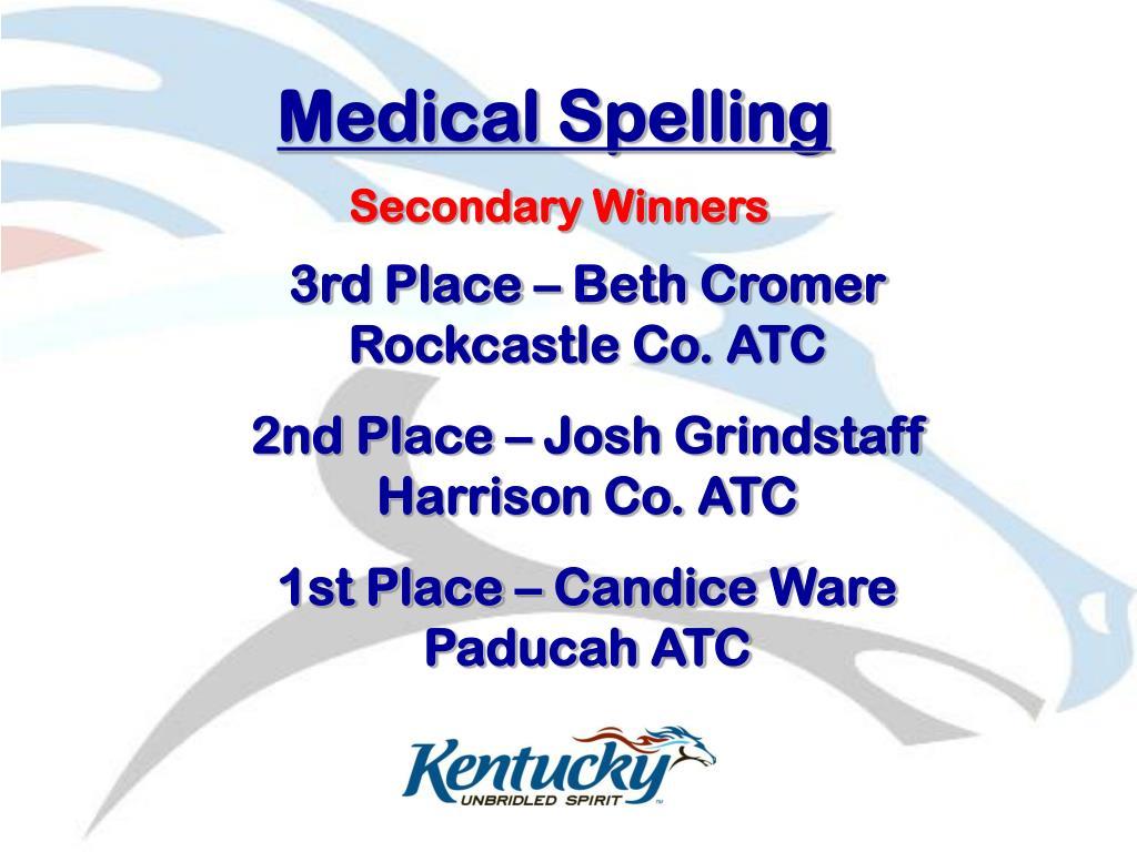 Medical Spelling