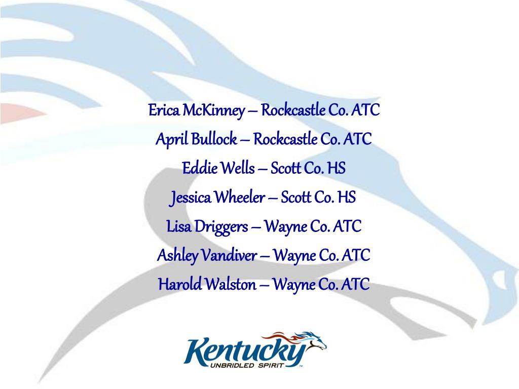 Erica McKinney – Rockcastle Co. ATC