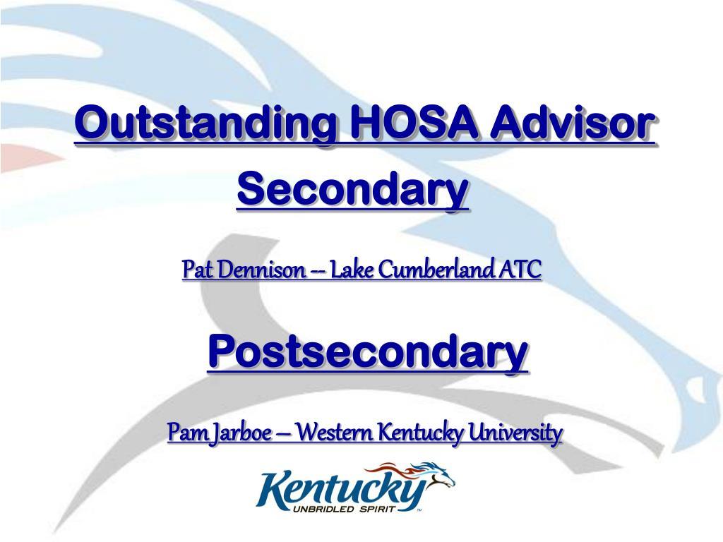 Outstanding HOSA Advisor