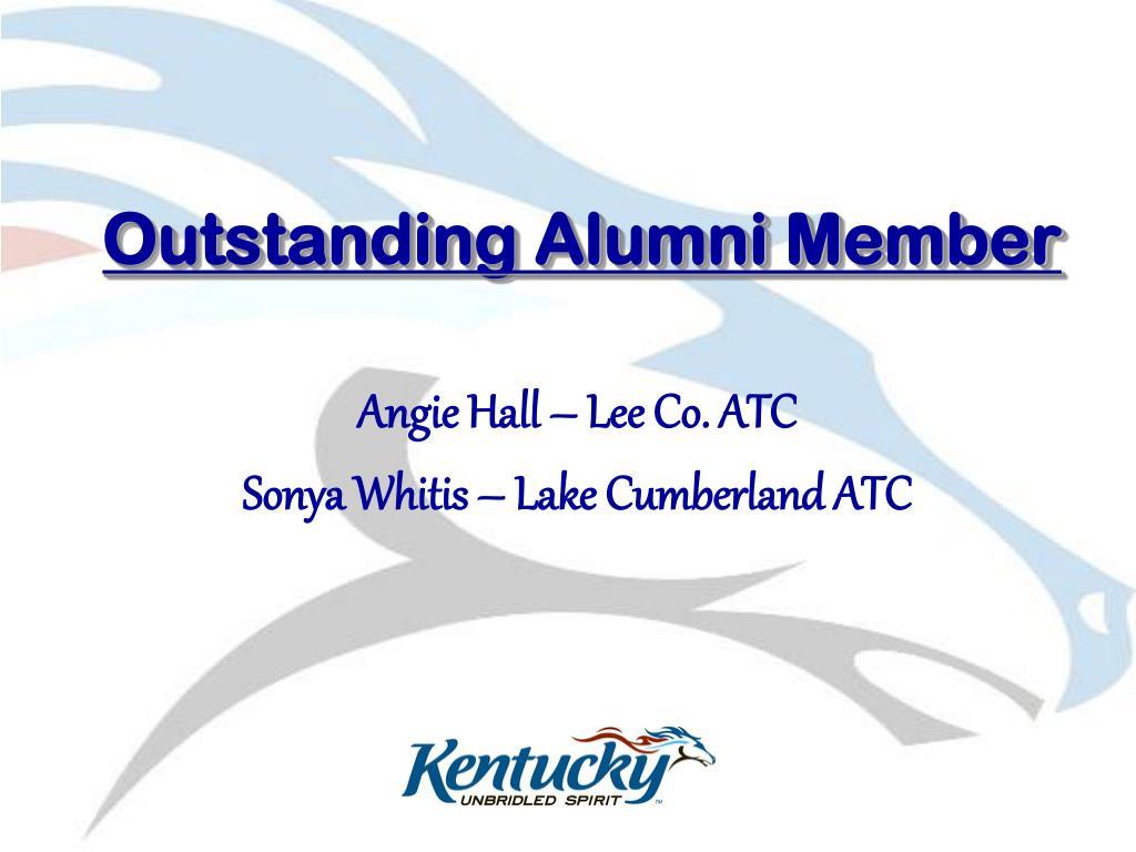 Outstanding Alumni Member