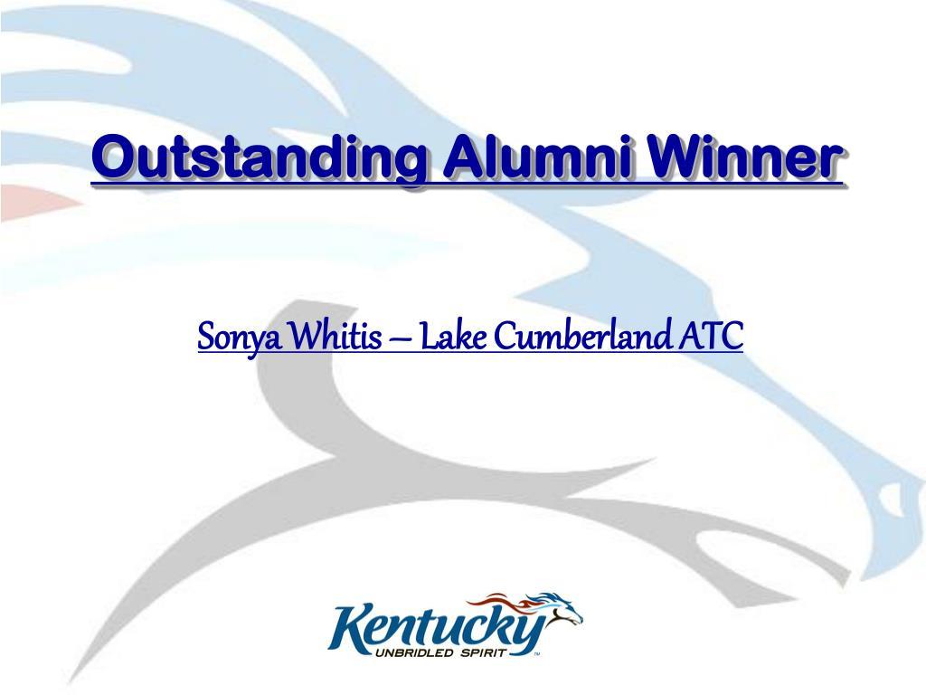 Outstanding Alumni Winner