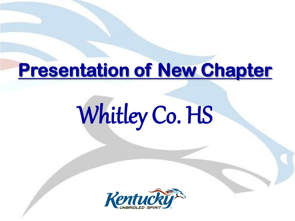Presentation of New Chapter