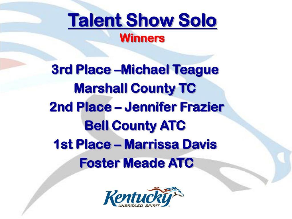 Talent Show Solo
