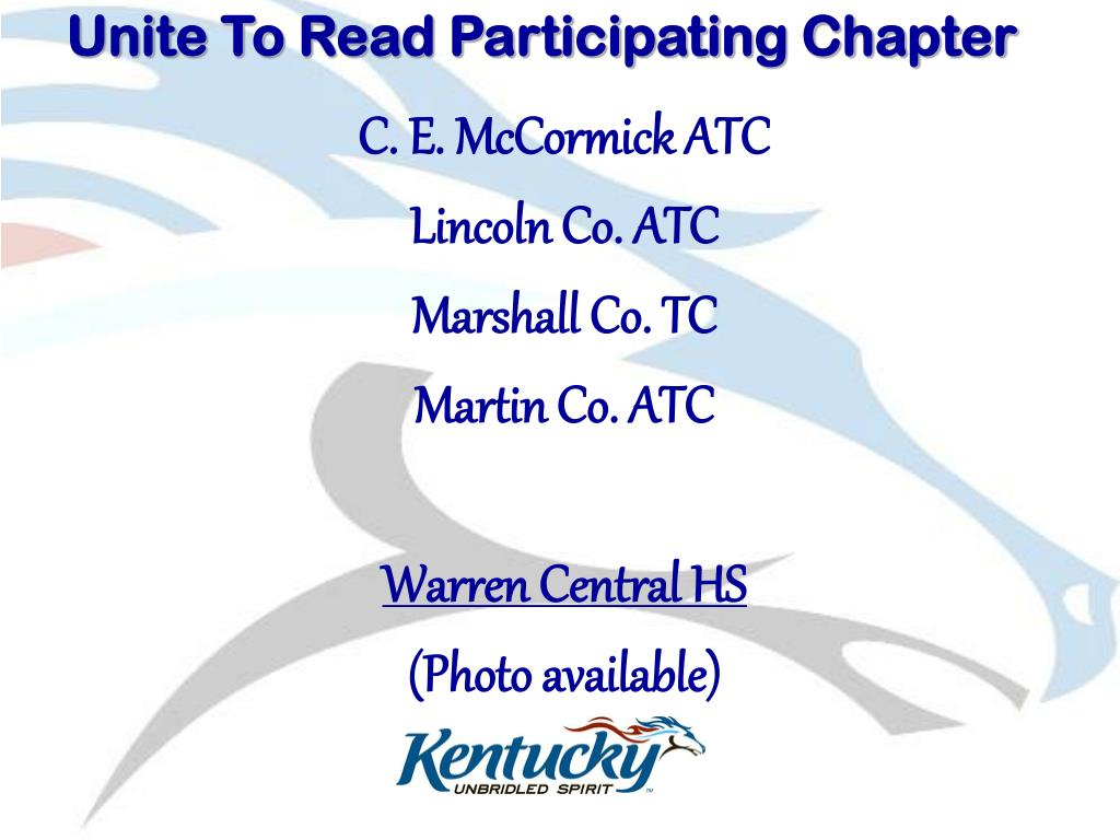 Unite To Read Participating Chapter