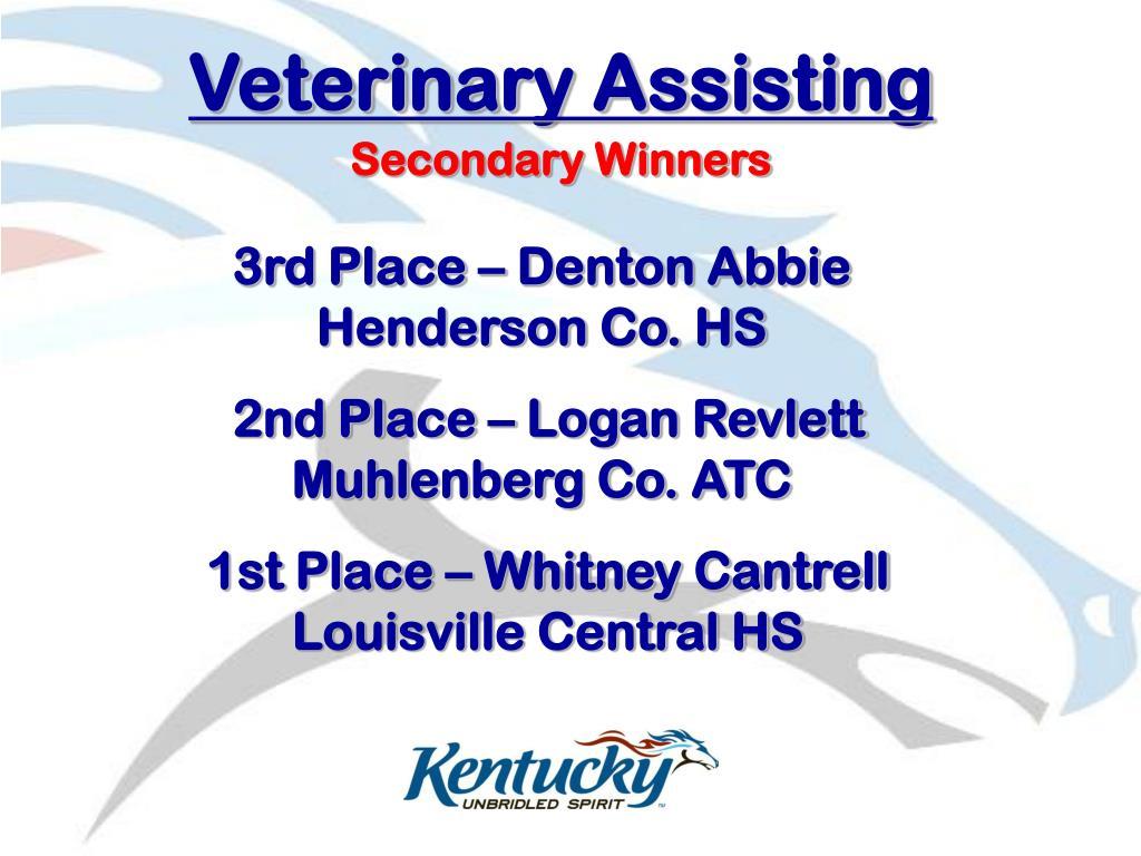 Veterinary Assisting