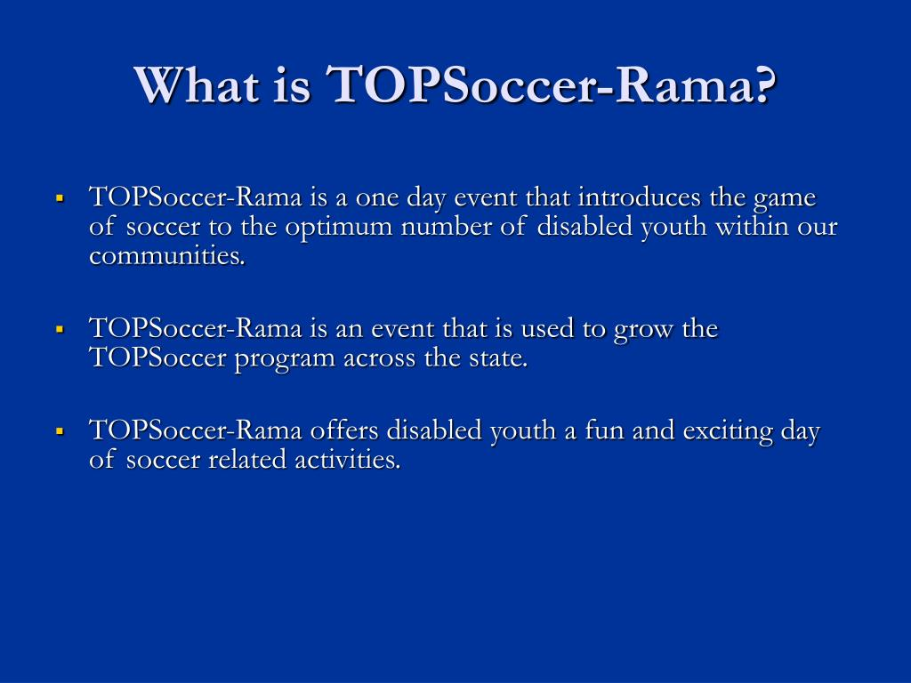 What is TOPSoccer-Rama?
