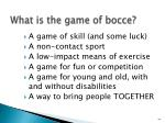 what is the game of bocce4