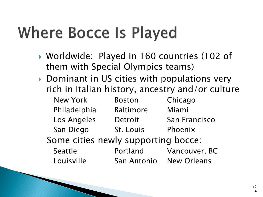 Where Bocce Is Played