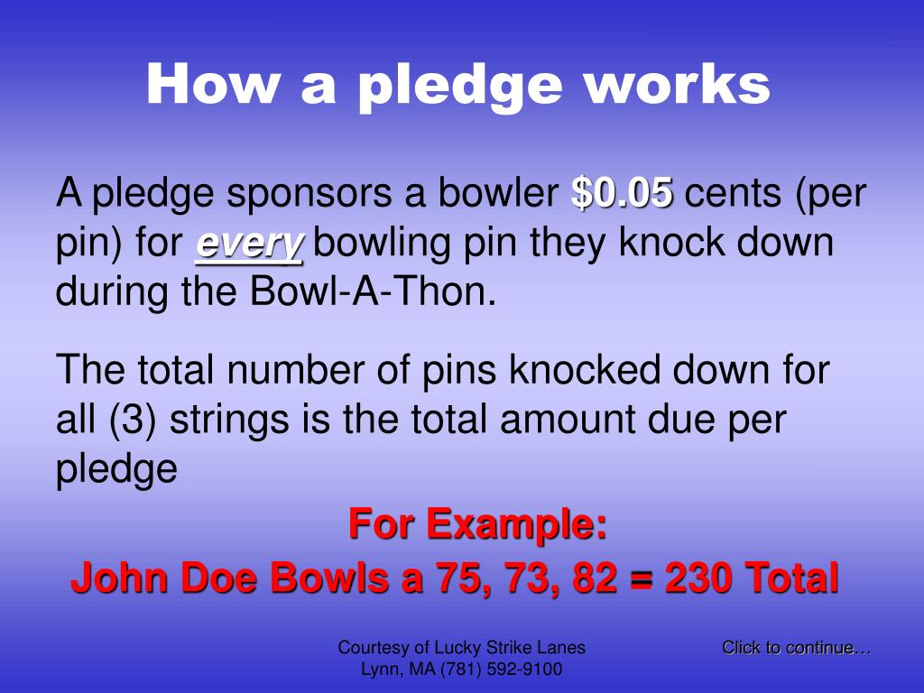 How a pledge works