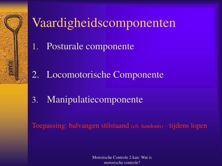 Vaardigheidscomponenten