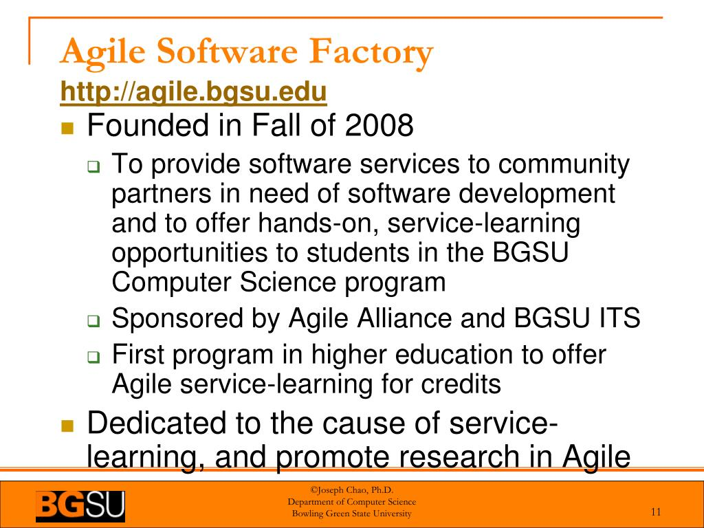 Agile Software Factory