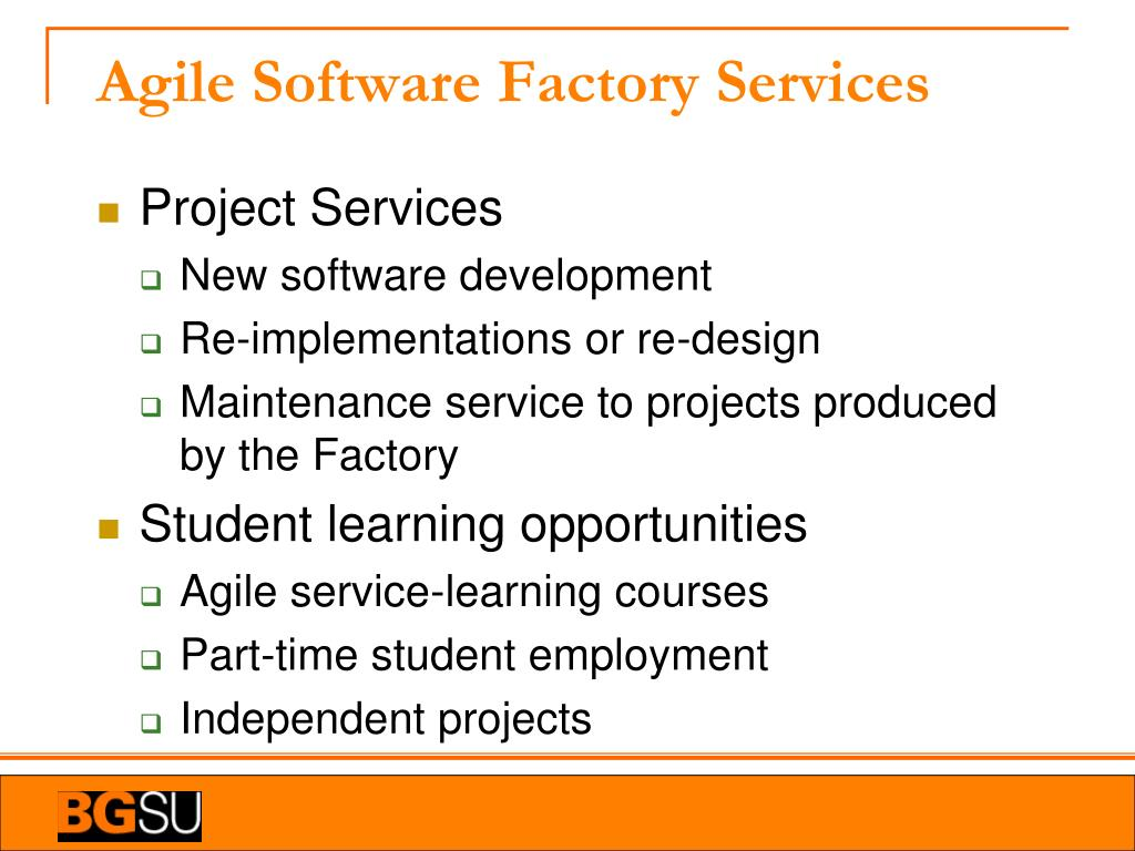 Agile Software Factory Services