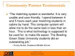 community partner testimonials
