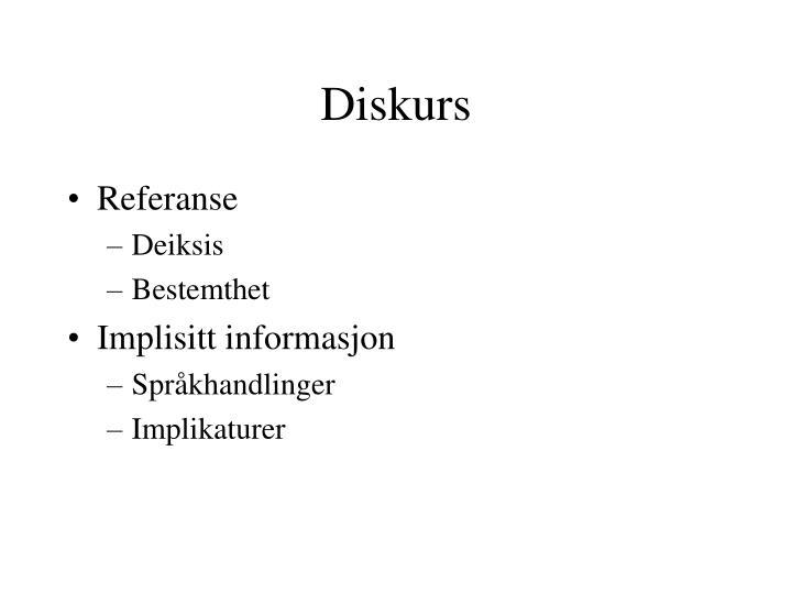 Diskurs