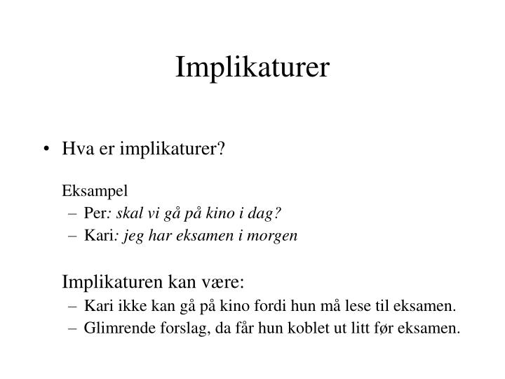 Implikaturer