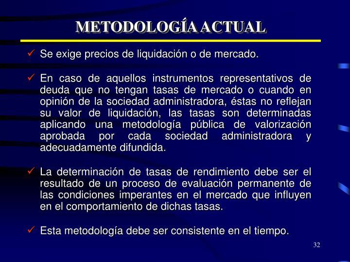 METODOLOGÍA ACTUAL