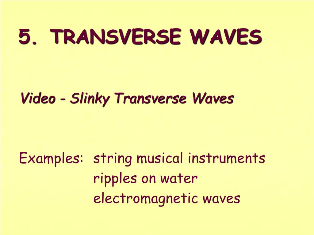 Video - Slinky Transverse Waves
