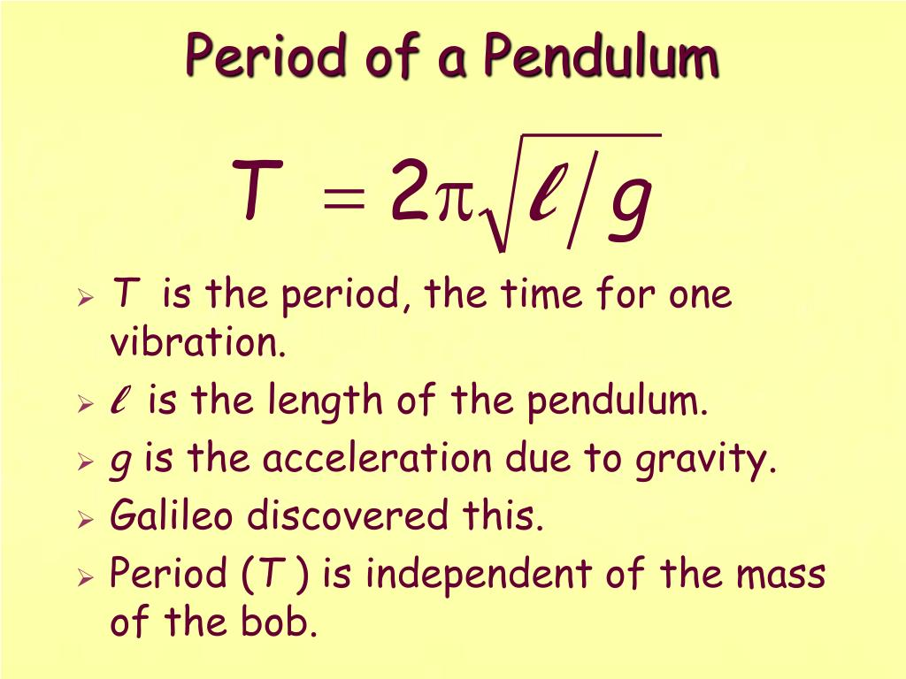 Period of a Pendulum