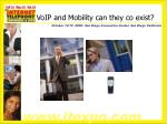 voip and mobility can they co exist