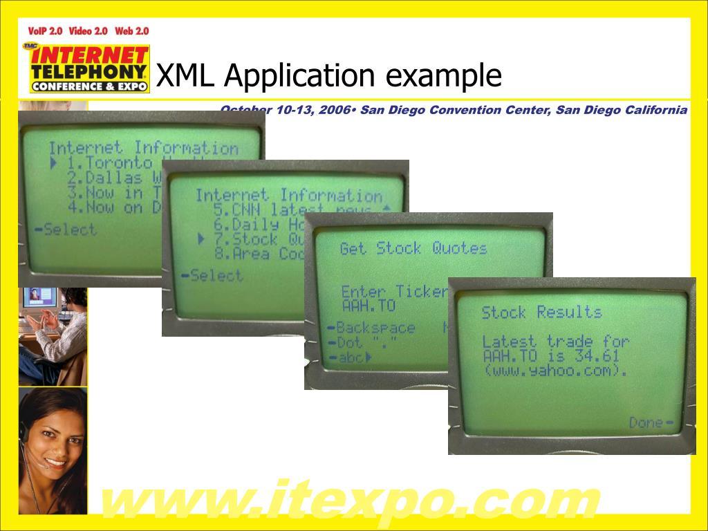 XML Application example
