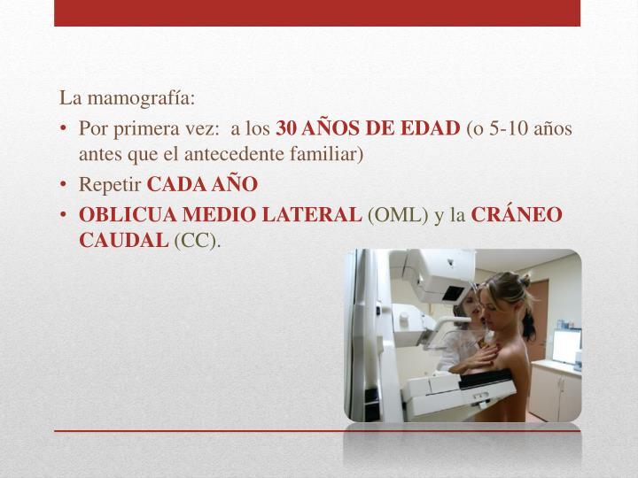 La mamografía: