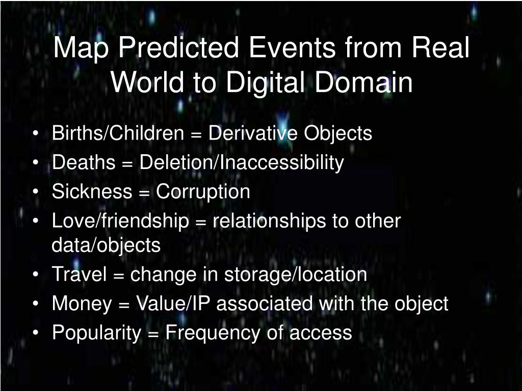 Map Predicted Events from Real World to Digital Domain