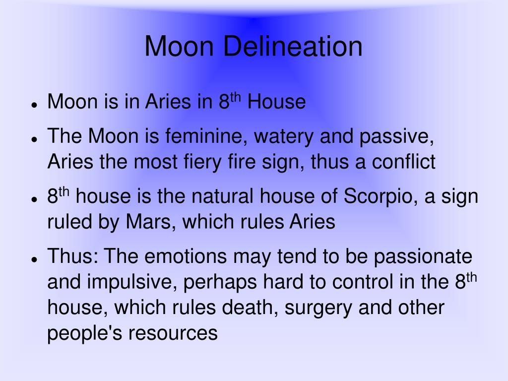 Moon Delineation