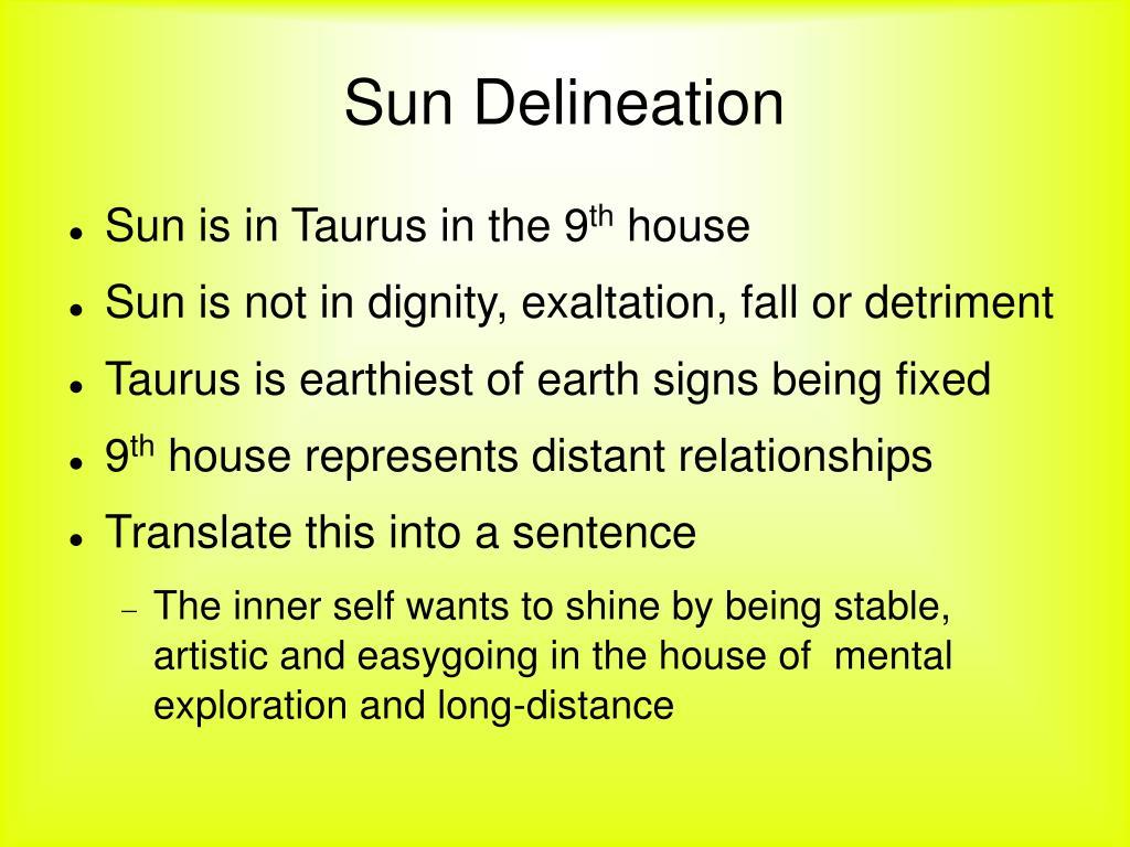 Sun Delineation