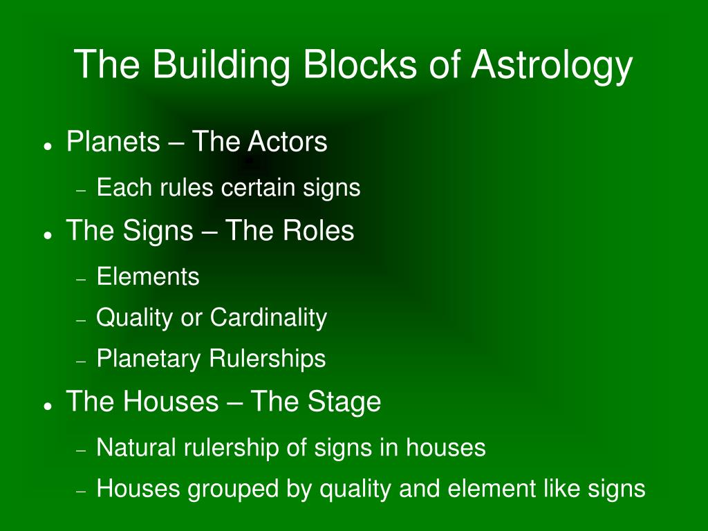 The Building Blocks of Astrology