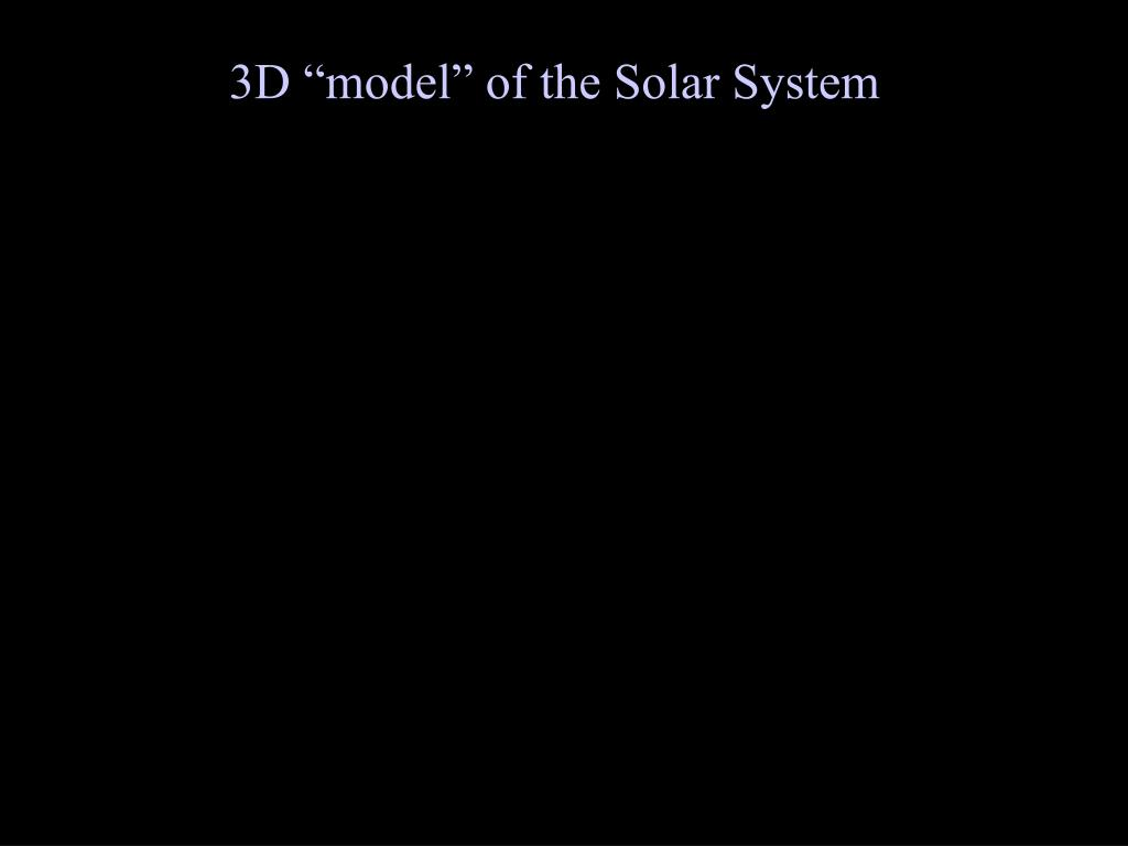"""3D """"model"""" of the Solar System"""