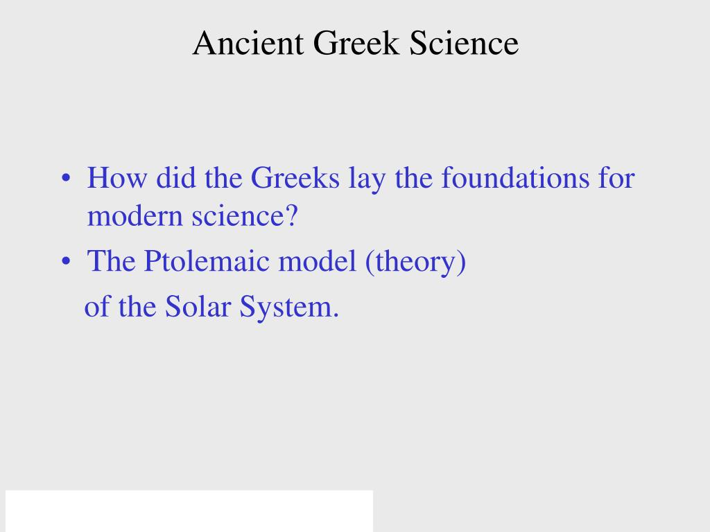 Ancient Greek Science