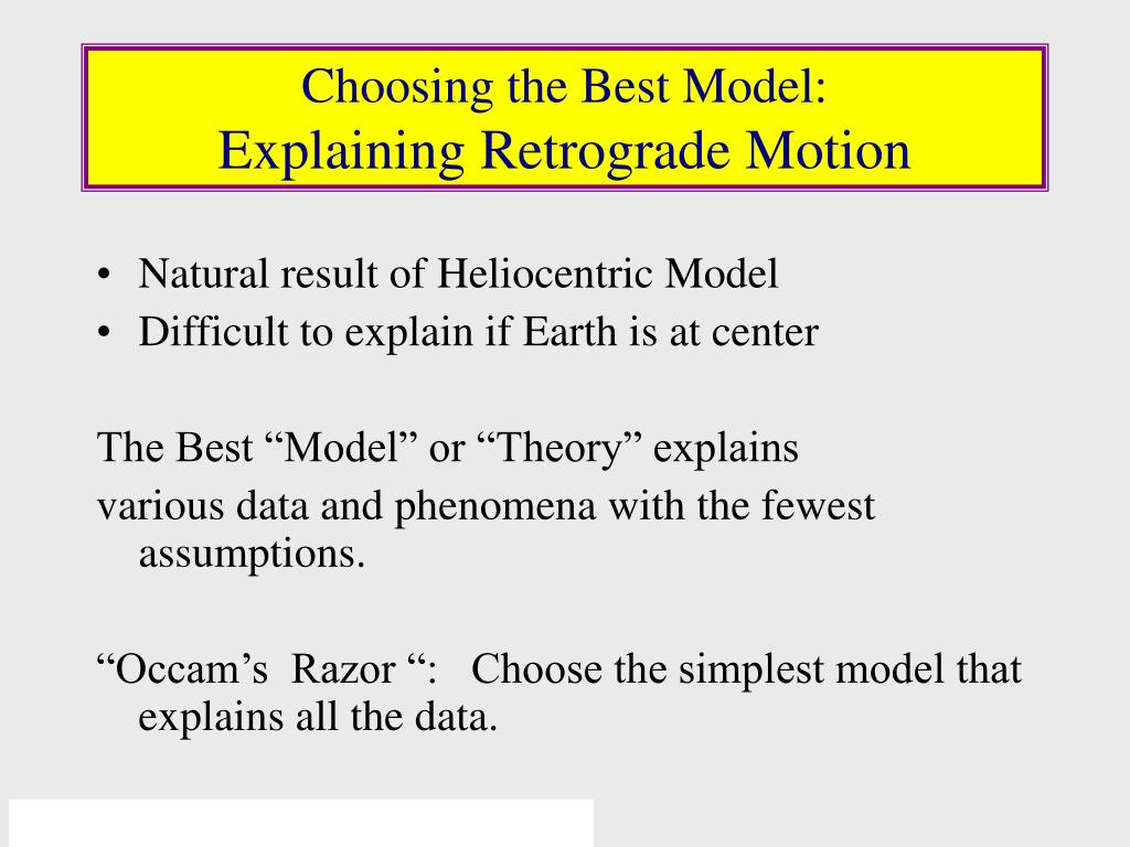 Choosing the Best Model: