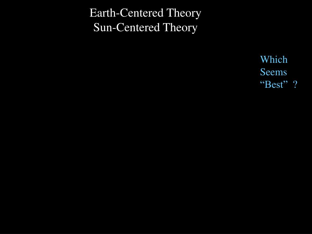 Earth-Centered Theory