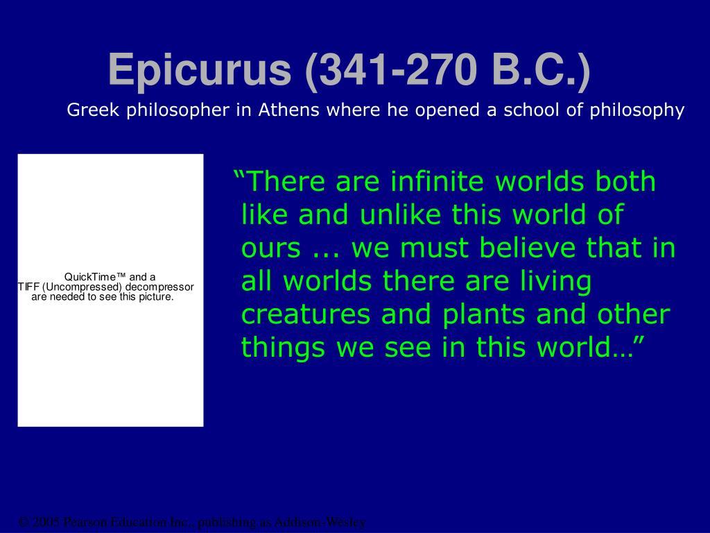Epicurus (341-270 B.C.)