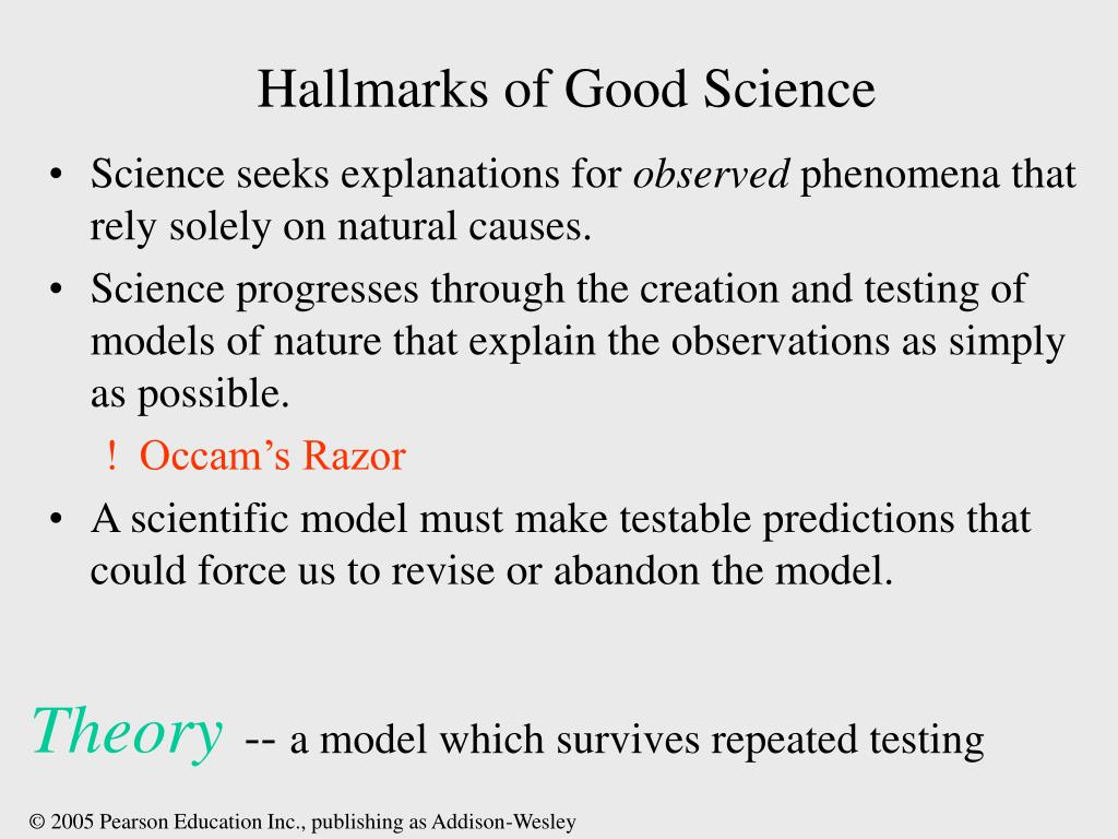 Hallmarks of Good Science