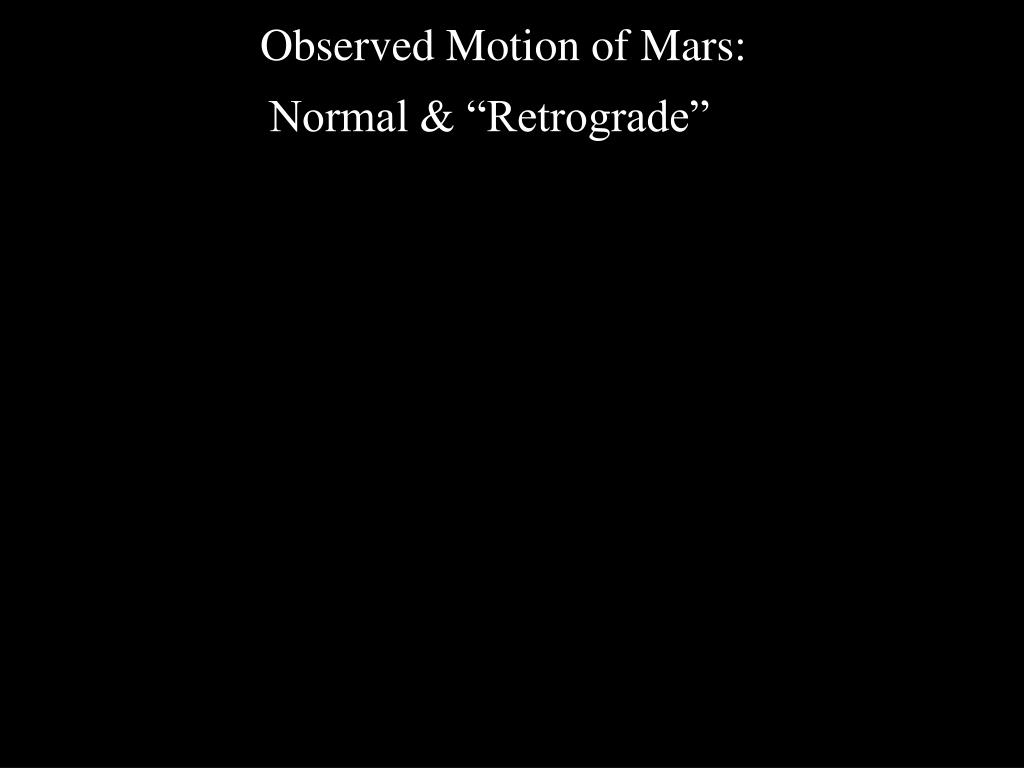 Observed Motion of Mars: