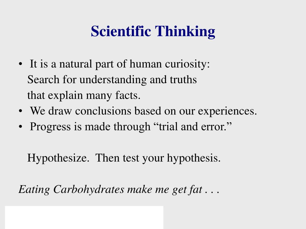 Scientific Thinking