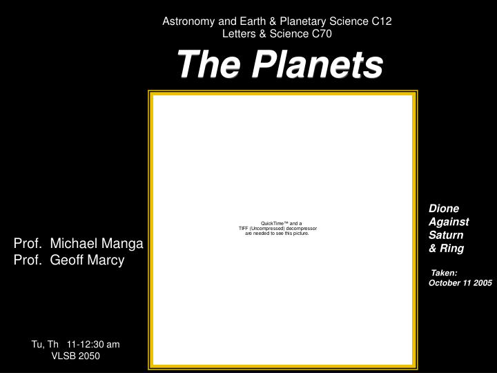 Astronomy and Earth & Planetary Science C12