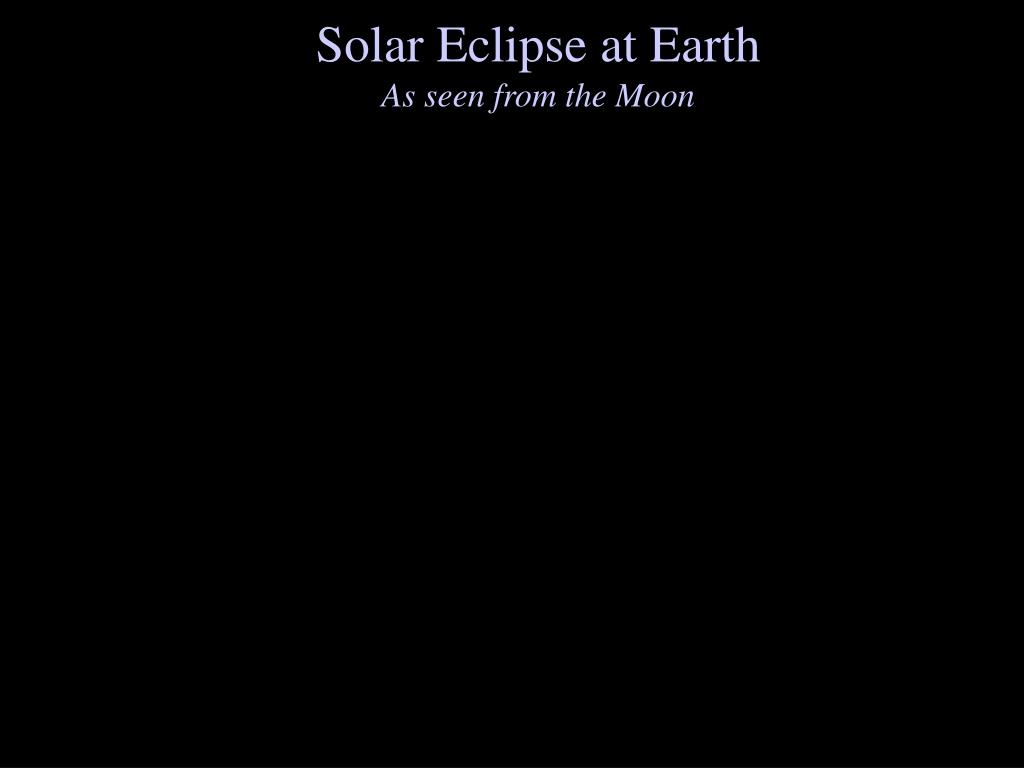 Solar Eclipse at Earth