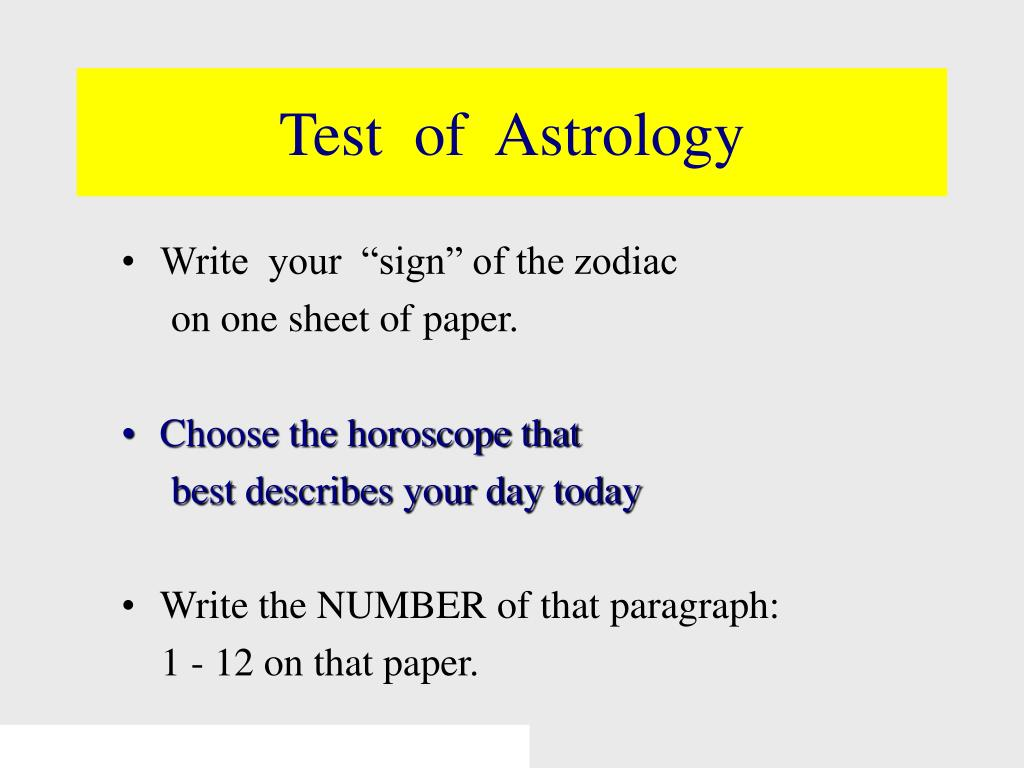 Test  of  Astrology