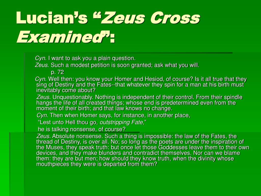"Lucian's """