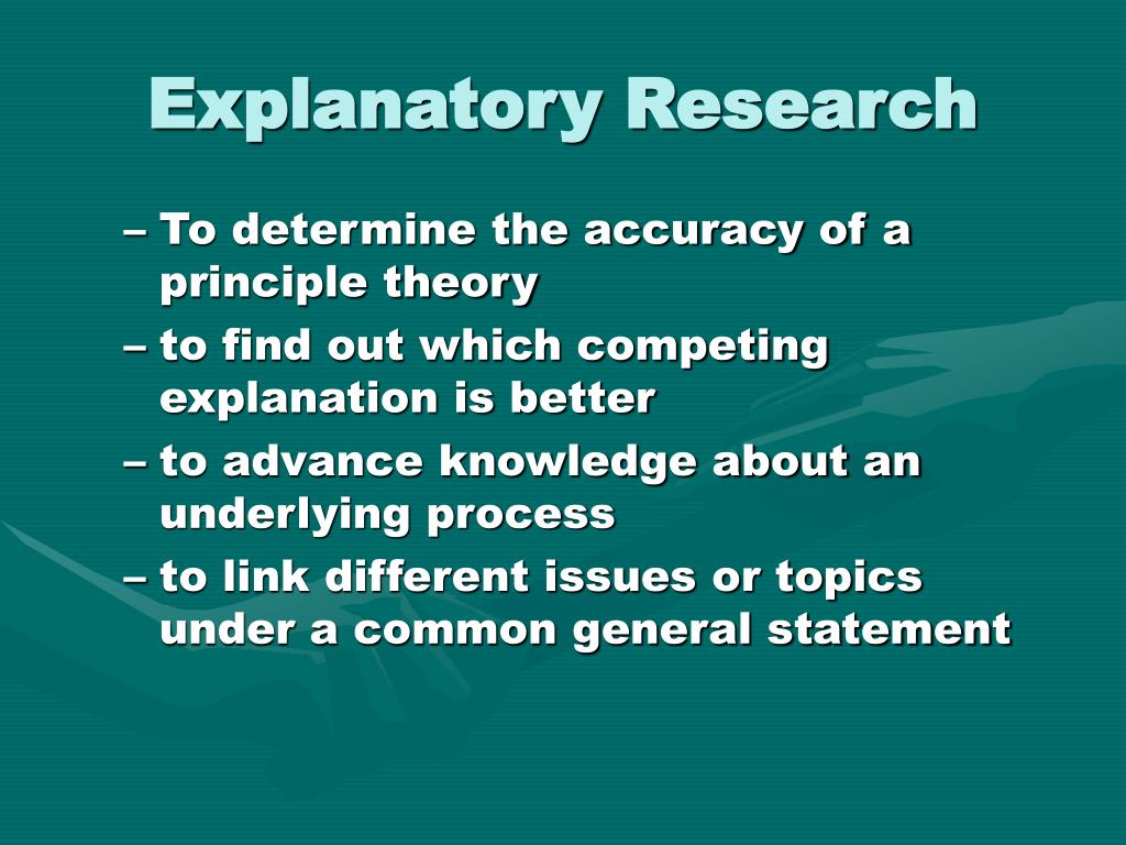 Explanatory Research
