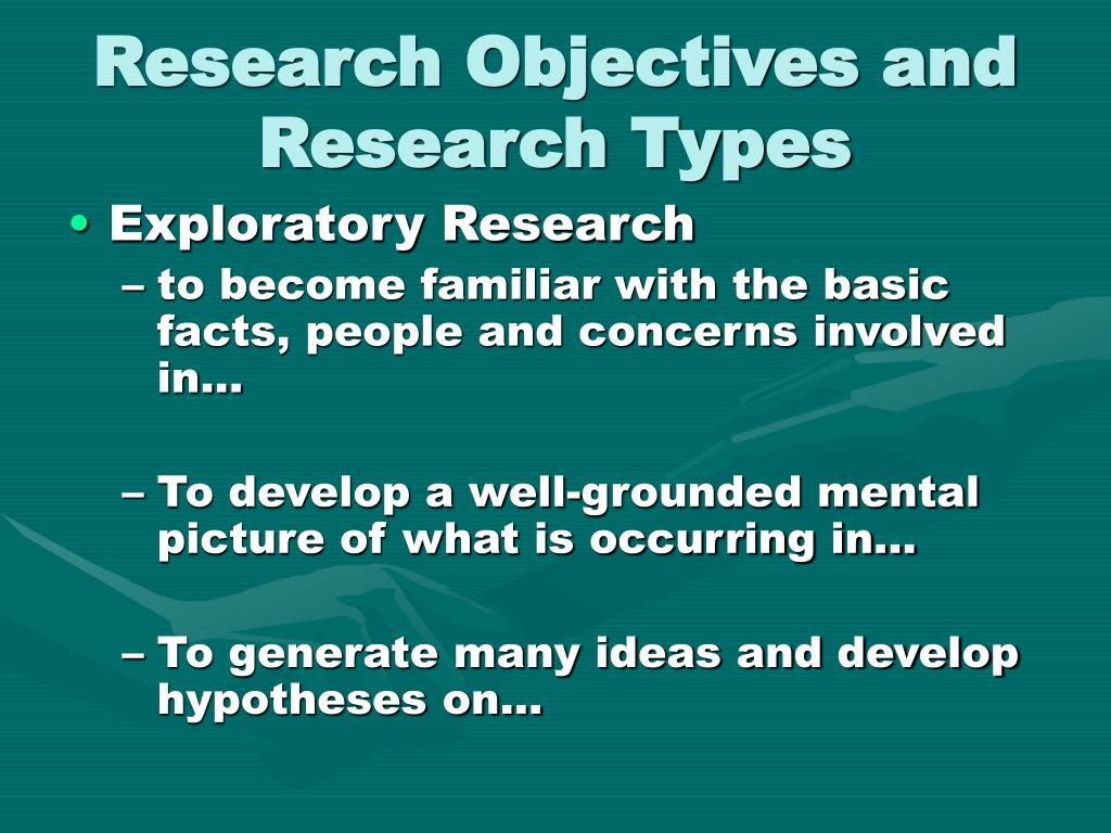 Research Objectives and Research Types