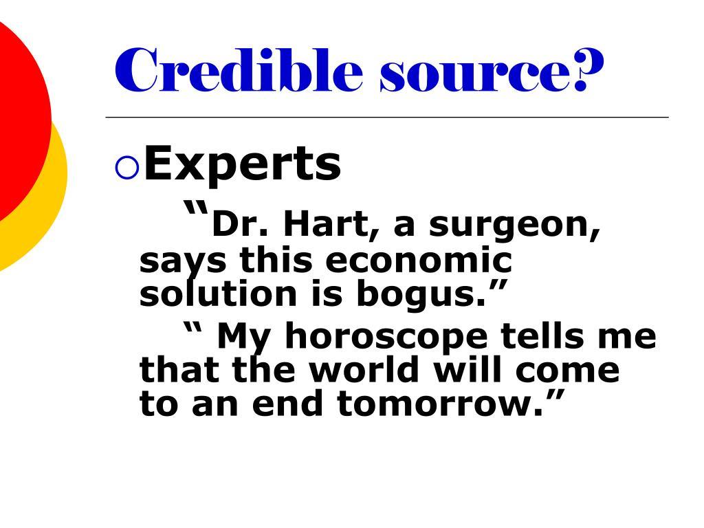 Credible source?