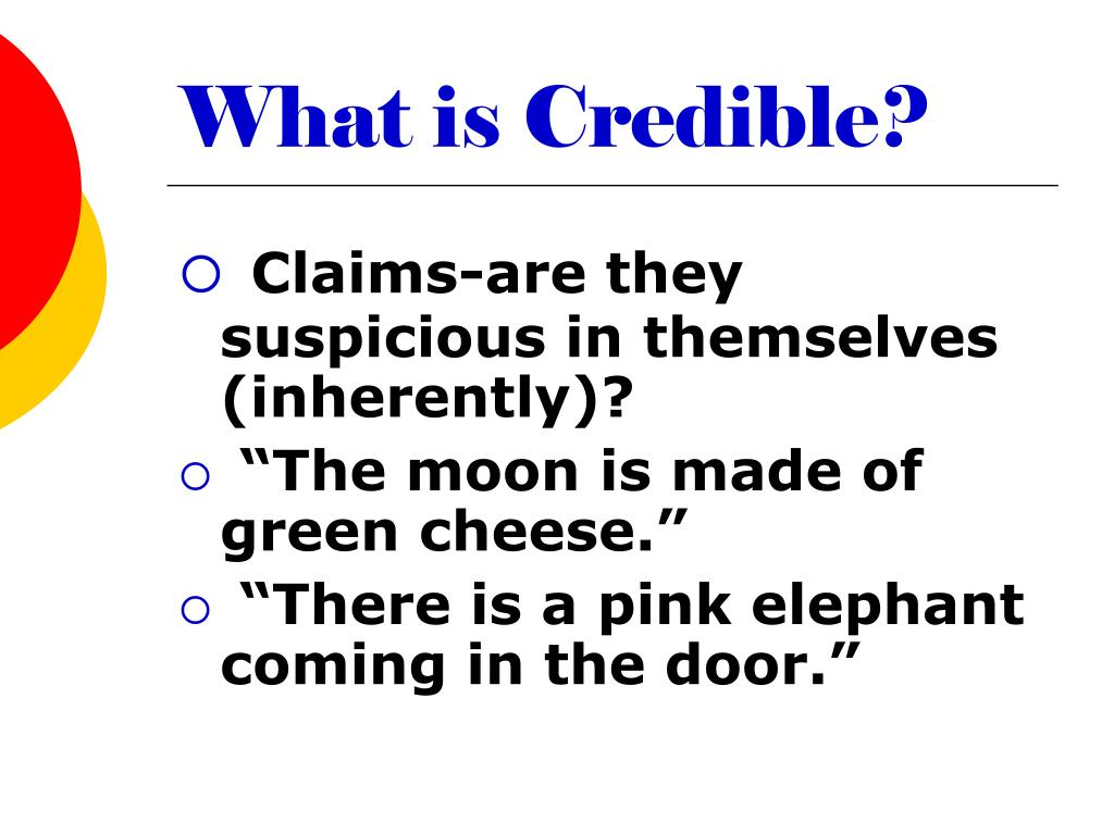 What is Credible?
