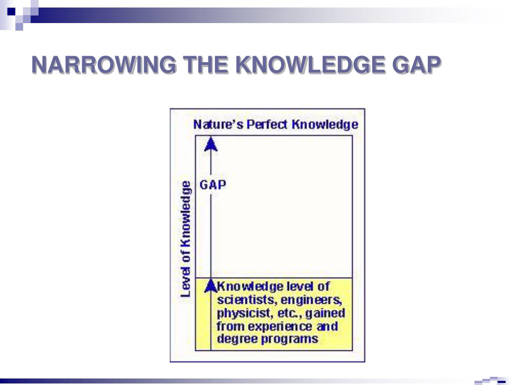 NARROWING THE KNOWLEDGE GAP